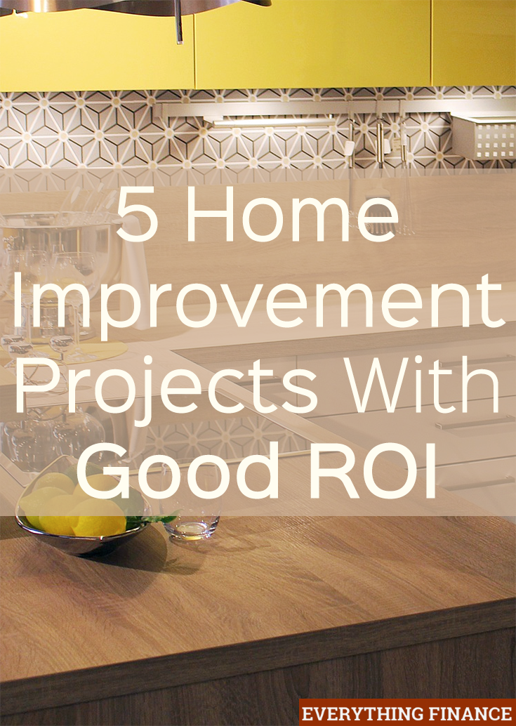 5 home improvement projects with good roi for Home improvement roi