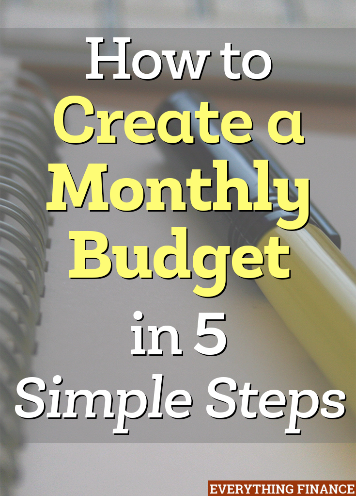 how to create a monthly budget in 5 steps