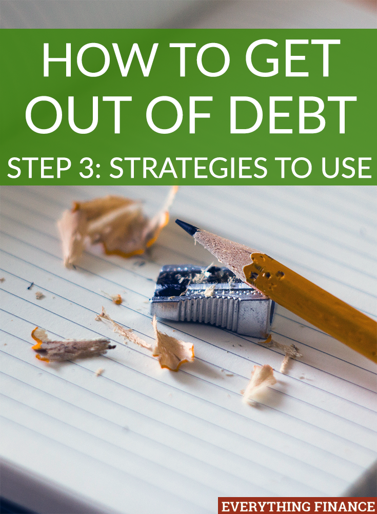 Want to get out of debt? Then you need to be strategic. Here are 2 methods you can use to pay off your debt, as well as 3 actions you can take to lessen it.