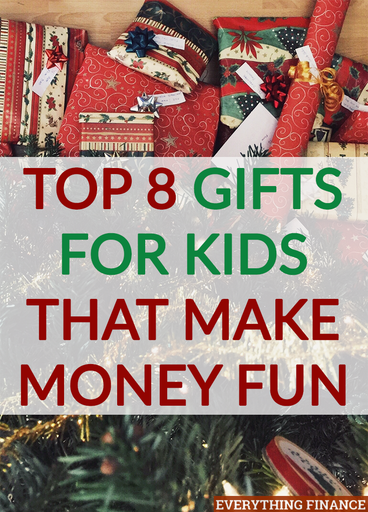 Want to give your kids an educational present? Here are the top 8 gifts for kids that make money fun so they can learn basic money management early on.