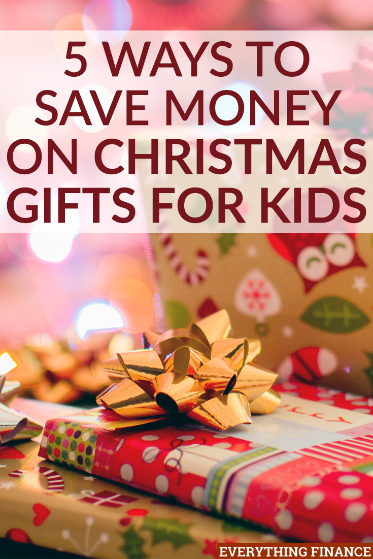 Want to treat your kids to a nice Christmas, but don't want to end up in debt or with more toys? Use these 5 ways to save money on Christmas gifts for kids.