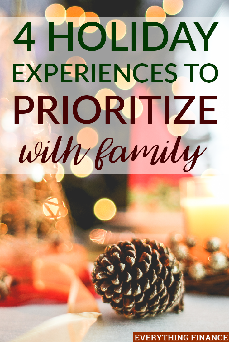 What do you remember most about the holidays in the past? Probably not gifts, but experiences. Here are 4 holiday experiences to enjoy with loved ones.