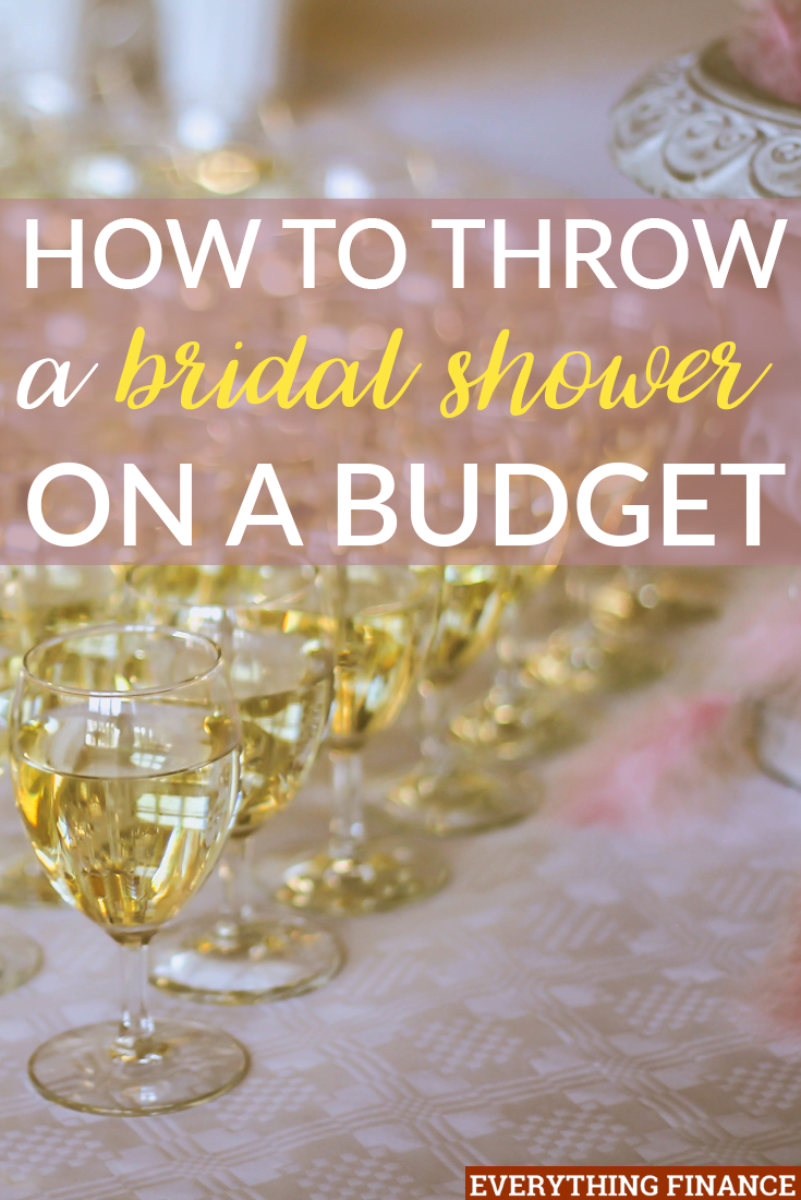 throwing a bridal shower can be expensive but it doesnt have to be