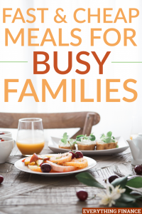 Coming up with fast, cheap, and easy food for busy families can be difficult, but it's not impossible. Here are 3 recipes to help.