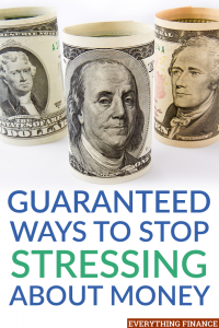 Stressing out about money can have a negative impact on your life long term. Here are 4 ways you can stop stressing about money and live a more peacefully.