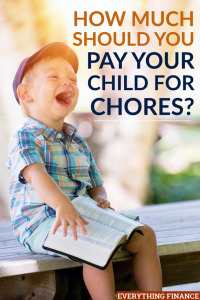 Deciding to pay your child to do chores is a great way to teach them both the value of hard work as well as the value of money.