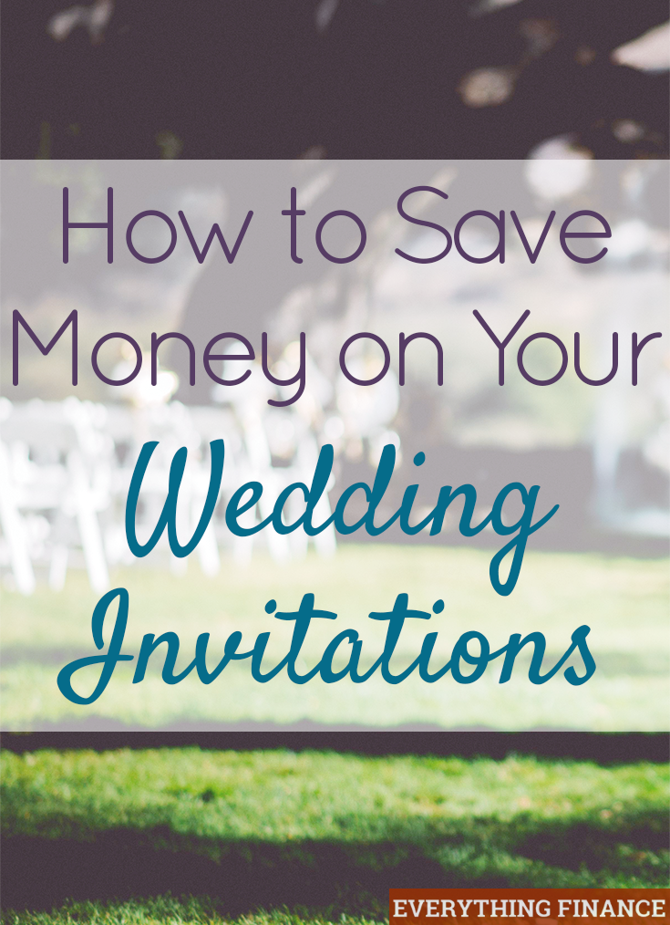 The cost of wedding invitations can add up quickly, especially when postage is factored in. Here's 6 ways to save money on wedding invitations!