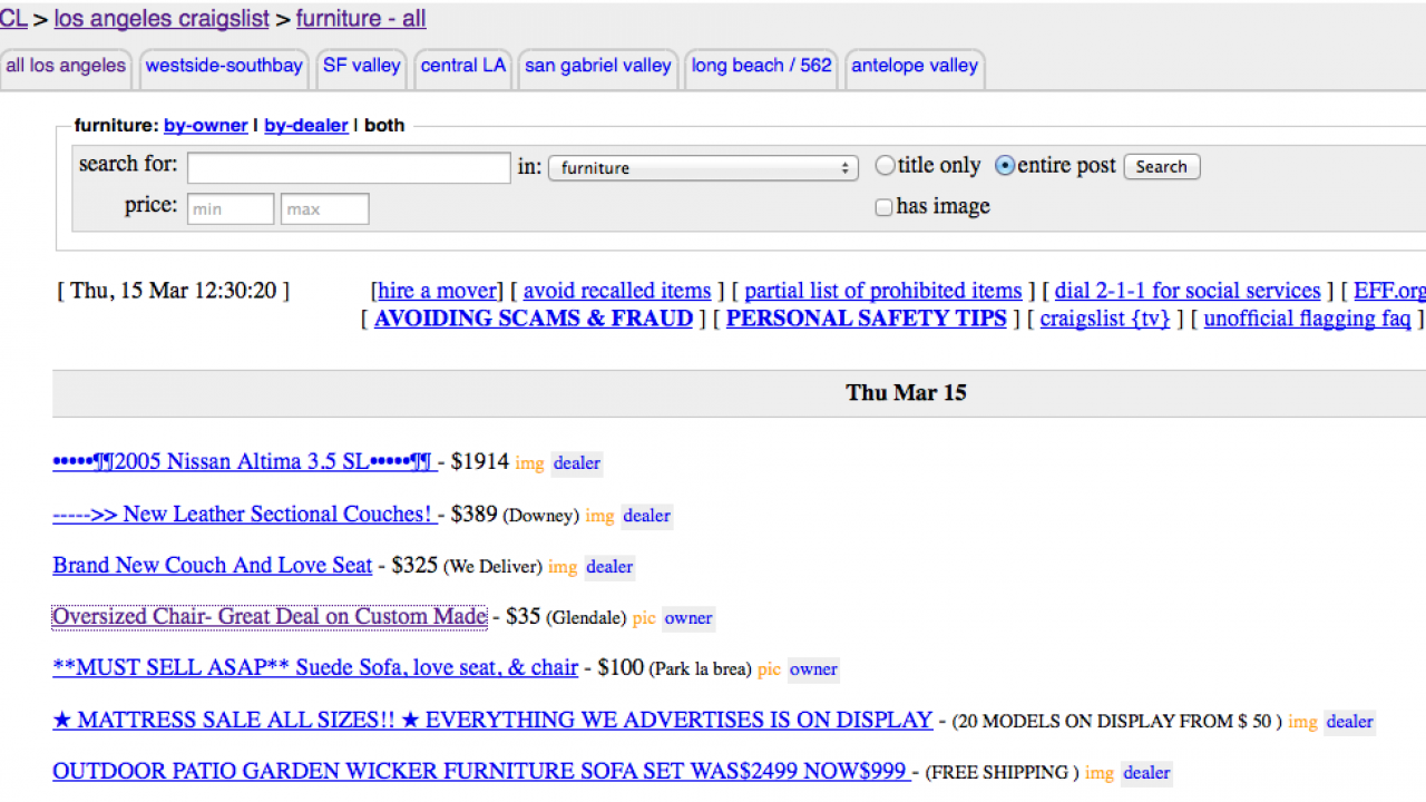 Save Money Buying on Craigslist By Being a Better Buyer