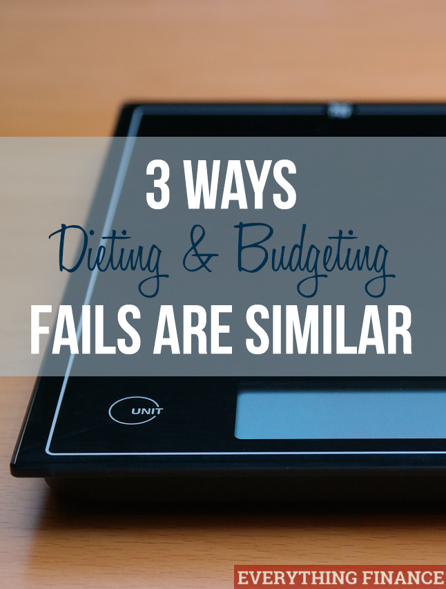 3 Ways budgeting and dieting fails are similar, and how you can succeed instead.