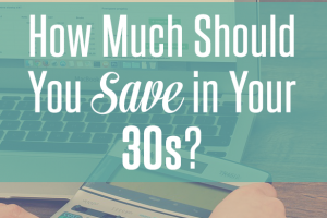 Wondering how much you should save in your 30s, or what you should be saving for? Then read this!