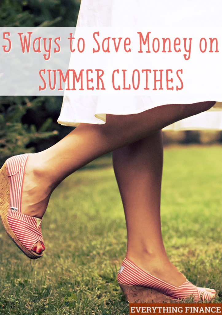 Getting your wardrobe ready for the nice weather? Here are 5 simple ways to save money on summer clothes that you might not have thought of.