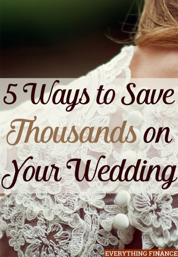 Want to save thousands on your wedding? It's not impossible, especially with average costs being over $20k. Here are 5 simple things you can skip out on.
