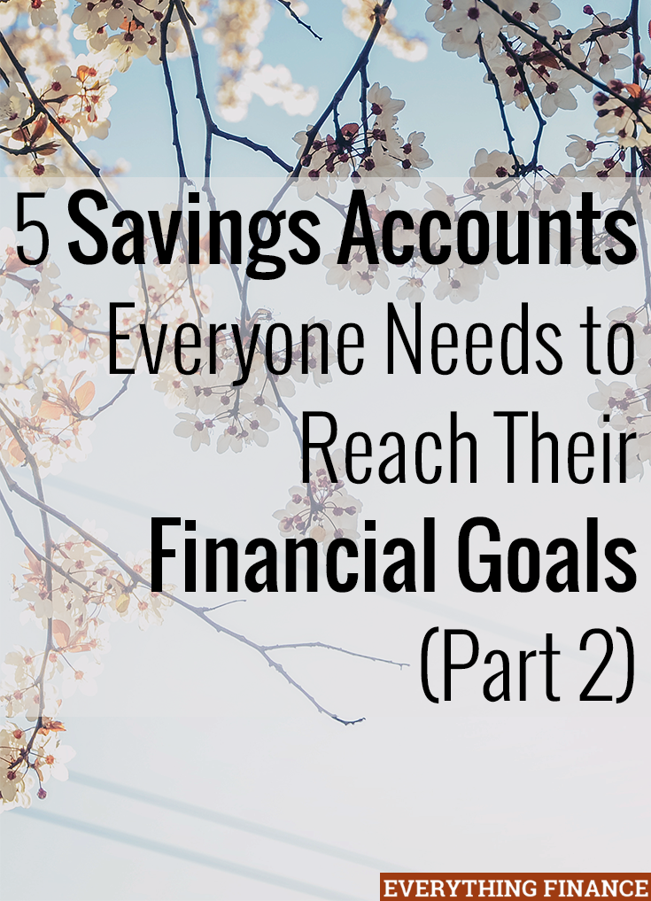 In a previous post, we discussed the importance of having a retirement account and emergency fund. Here are 3 other savings accounts everyone should have.