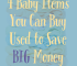 Are you a fan of buying used baby items? We're taking this route to save as much as possible on our first-born, and to save on costs later for future kids.