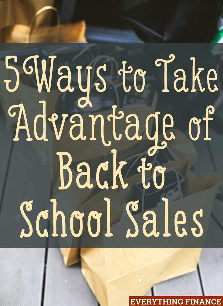 Take advantage of back to school sales even if your child isn't in school by shopping for what you need! Here's some items to consider buying.