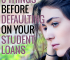 Are you having trouble paying your student loans back? Do these 6 things before defaulting on your student loans, as defaulting can ruin your credit.