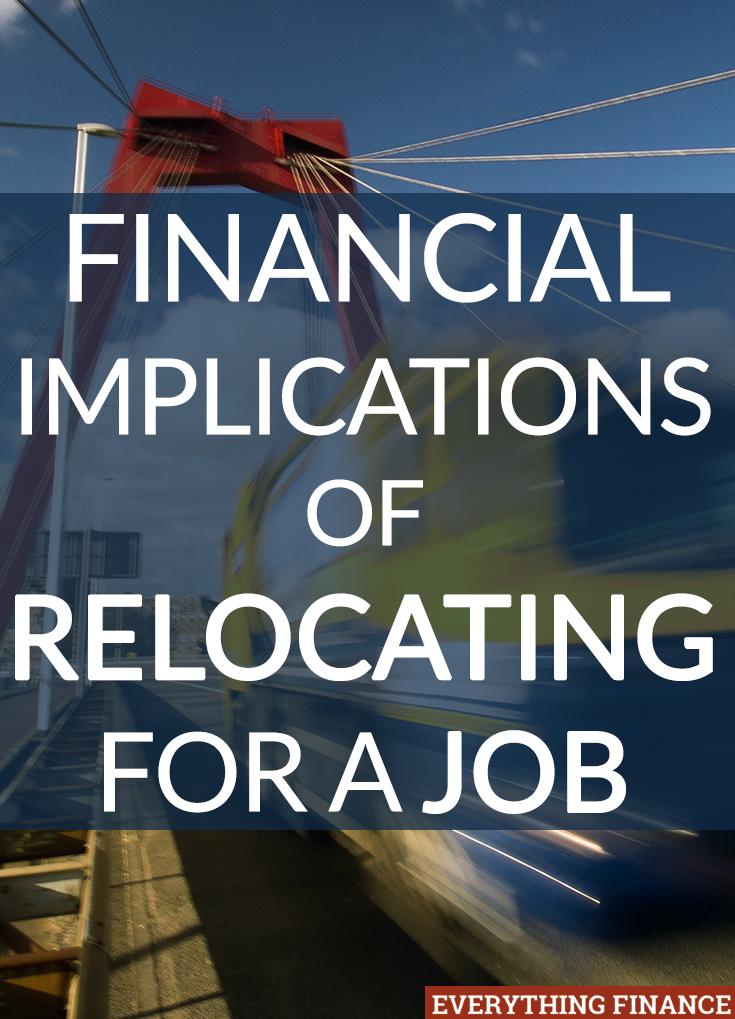 Es hora de dejar su trabajo y eso podría significar mudarse. Aquí hay algunas consideraciones sobre las implicaciones financieras de la reubicación para un trabajo.