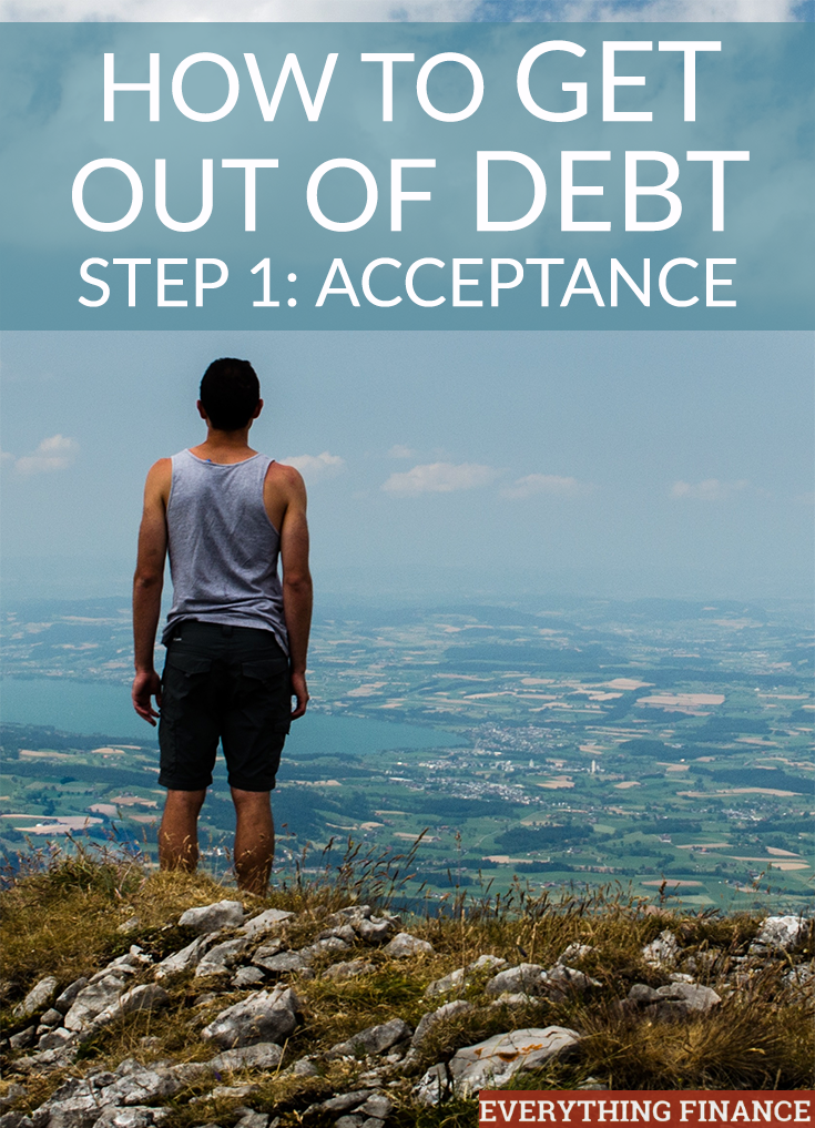 In this series, we're detailing in four steps how you can get out of debt for good. The first step? Acceptance and figuring out how much you owe.