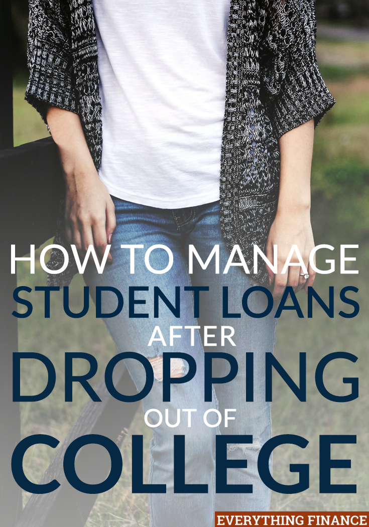 Not everyone that goes to college graduates. Managing student debt after dropping out is a challenge, but it's a doable one. Here are 6 tips to get yourself on the right track.