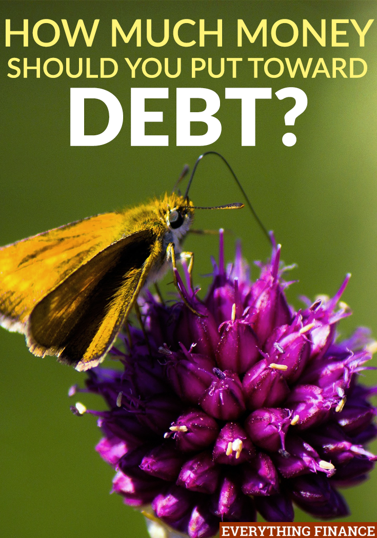 Are you just starting off on your debt repayment journey? You might be wondering how much to put toward your debt. Here's the simple answer.