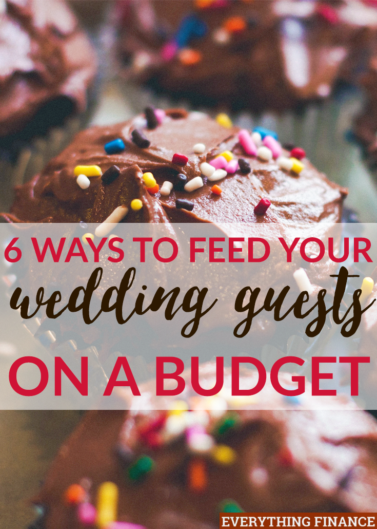 Food can be one of the highest expenses you'll deal with when wedding planning. Feeding your wedding guests on a budget is possible with these 6 tips!