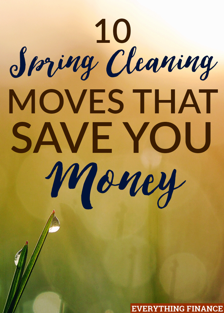 This list of ten spring cleaning tasks that save you money are great for both your wallet and your possessions! You can easily tackle them in a weekend.