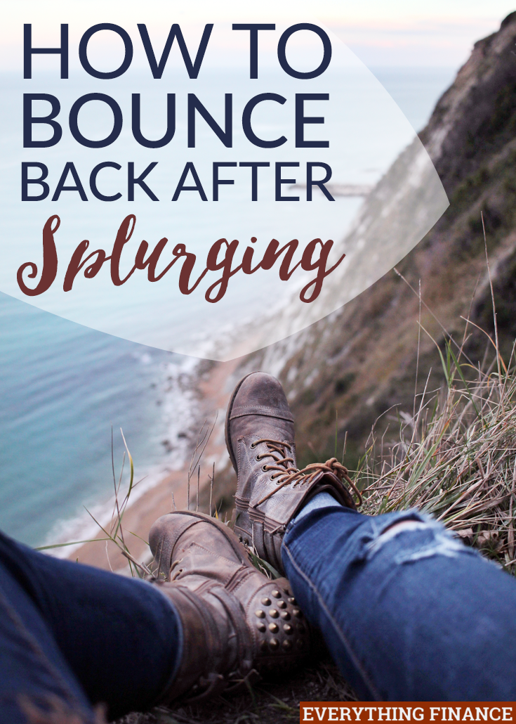Have you done some serious damage to your budget on a recent shopping trip? Here's how you can bounce back after splurging so you don't take the hit.