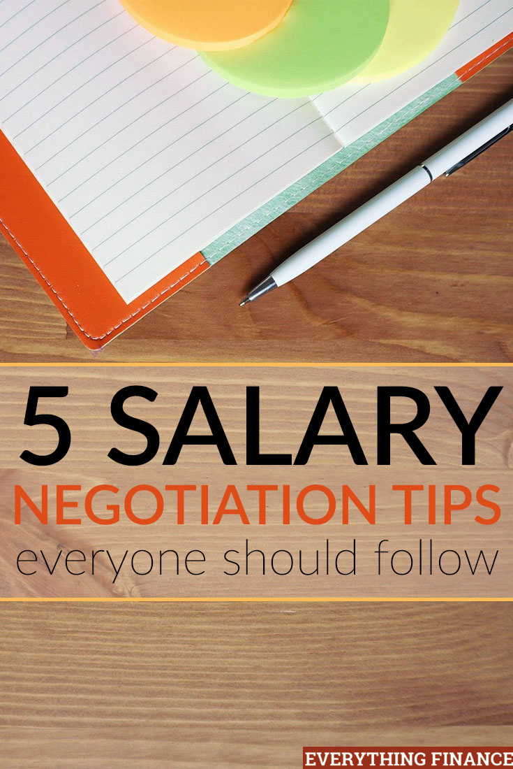 Worried about negotiating your salary after acing the interview? Try using these 5 salary negotiation tips to make sure you don't leave money on the table.