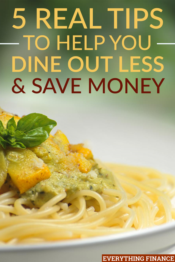 Want to dine out less to save money, but finding it hard to fight the temptation? Here are 5 strategies that will help.