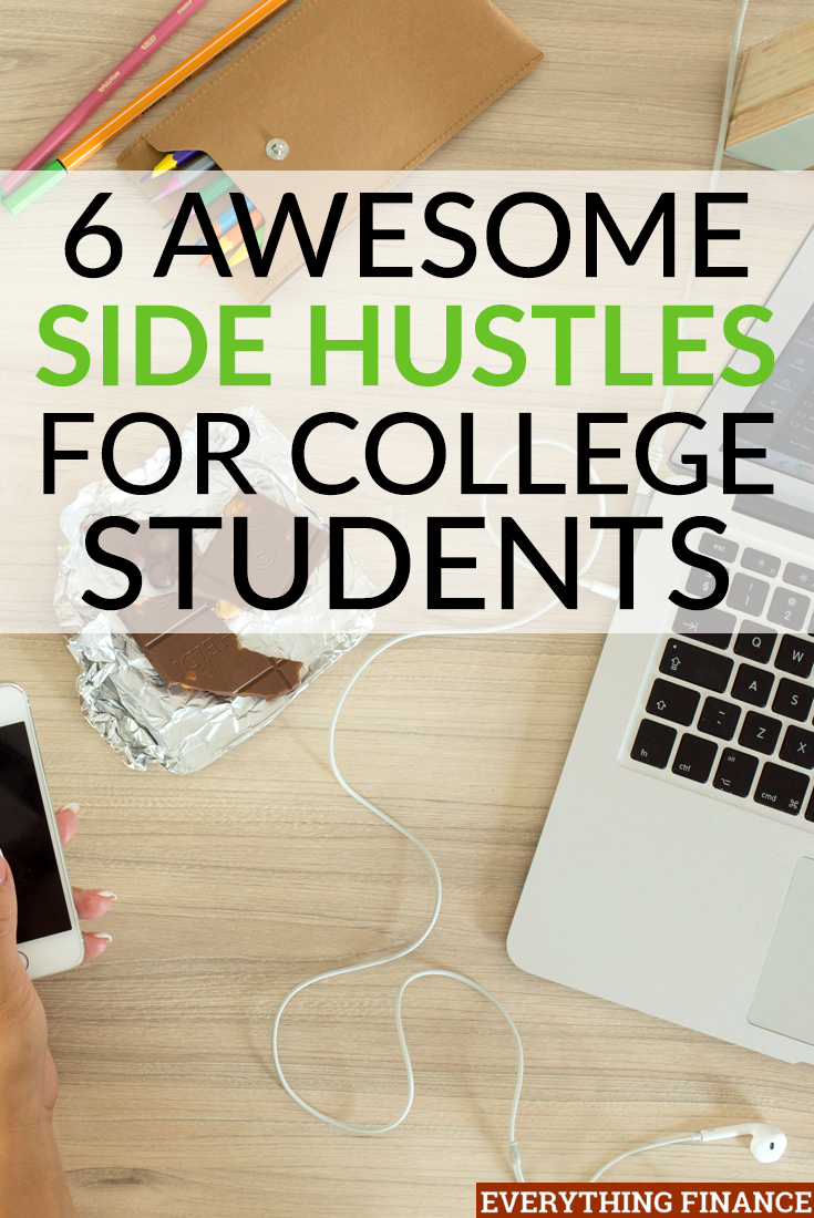 "Sick of living like the stereotypical ""broke college student""? Don't have a way to get a part-time job? These side hustles for college students are perfect because of their flexibility."