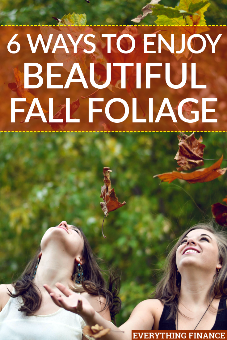 Most people love autumn because of the beautiful fall foliage it brings. Want to enjoy the scenery on a budget? Try these six inexpensive ideas.