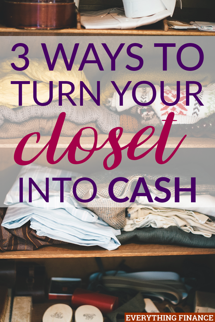 Sick of having a cluttered closet? You can always sell your clothes for some quick cash. Here are three options you have when going about it.