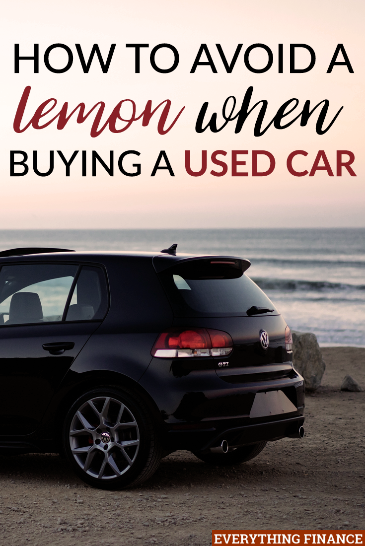 how to avoid a lemon when buying a used car. Black Bedroom Furniture Sets. Home Design Ideas