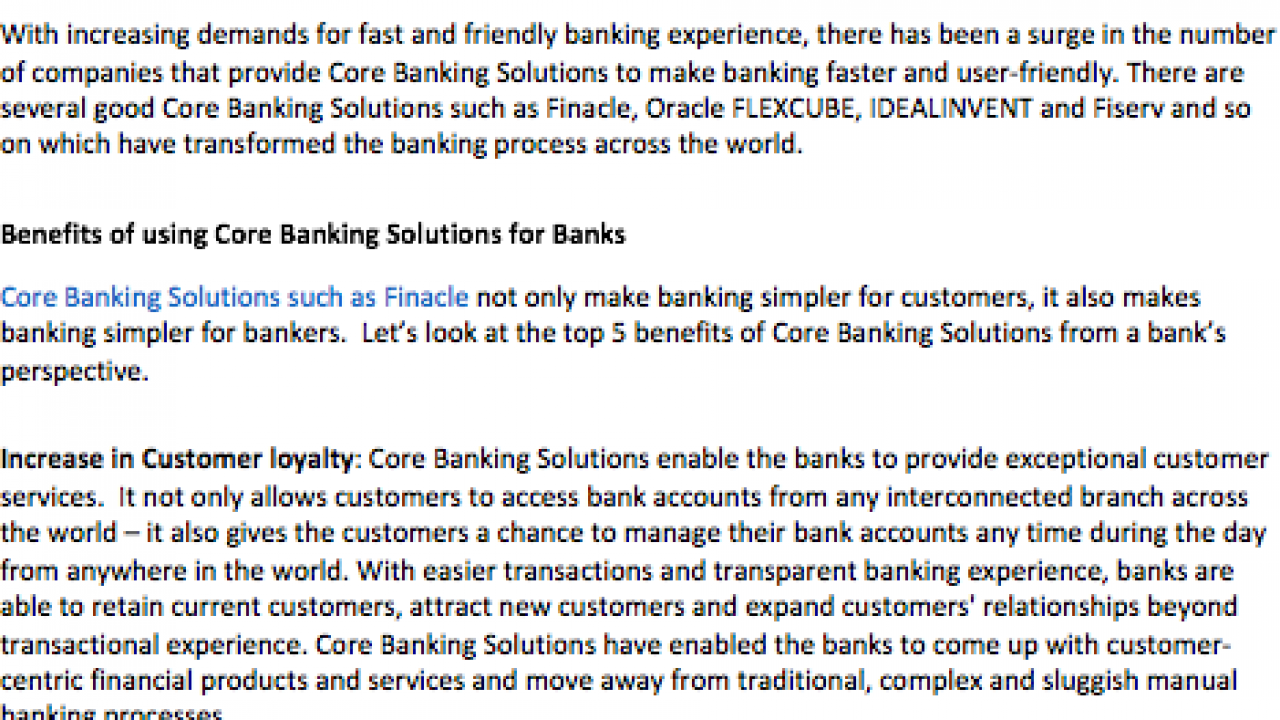 Top 5 Benefits of Core Banking Solutions for Banks
