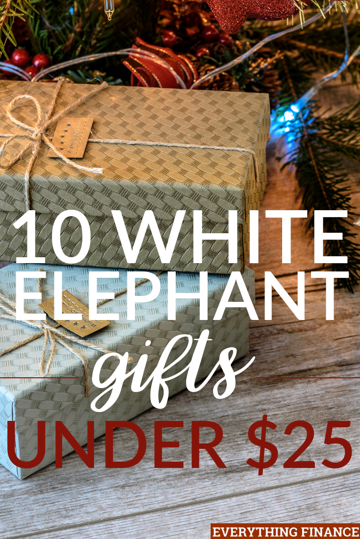Does your office or family require everyone to get white elephant gifts? Here are some & 10 White Elephant Gifts Under $25
