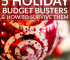The holidays can be an expensive time where your budget might go out the window. Here's how to survive common holiday budget busters and stop the stress!