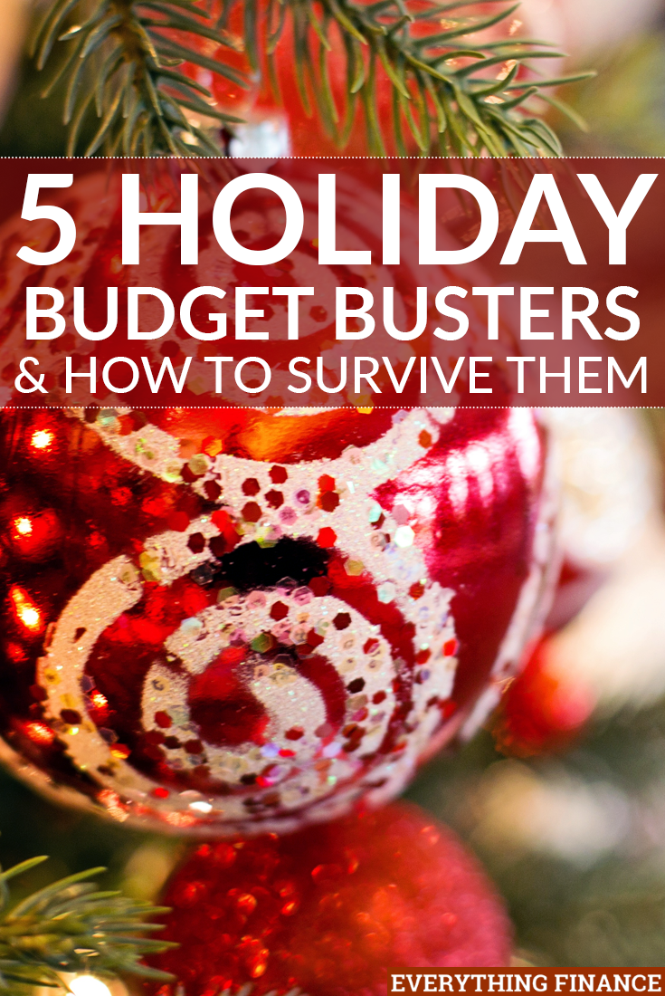 The holidays can be an expensive time where your budget might go out the window blinds and shutters. Here's how to survive common holiday budget busters and stop the stress!