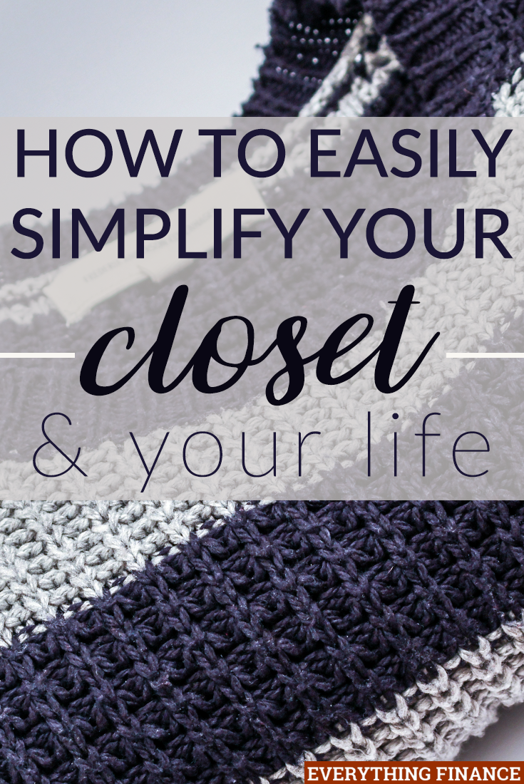 Tired of an over-stuffed closet staring back at you every day? Here are some easy tips to help you simplify your closet - once and for all!