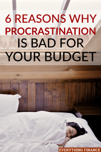Procrastination may not seem like a big deal, but there are times that it can harm your budget and finances. Here are some consequences of procrastination.
