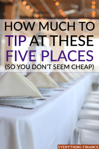 Do you leave an adequate tip when you receive a service? Find out if you are tipping enough in this guide so you don't appear cheap!