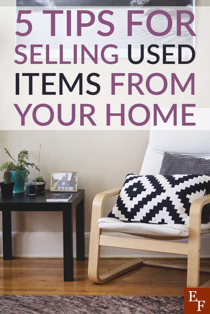 Selling used items from around your home can be a good way to come up with some extra cash for unexpected expenses to avoid taking on debt.
