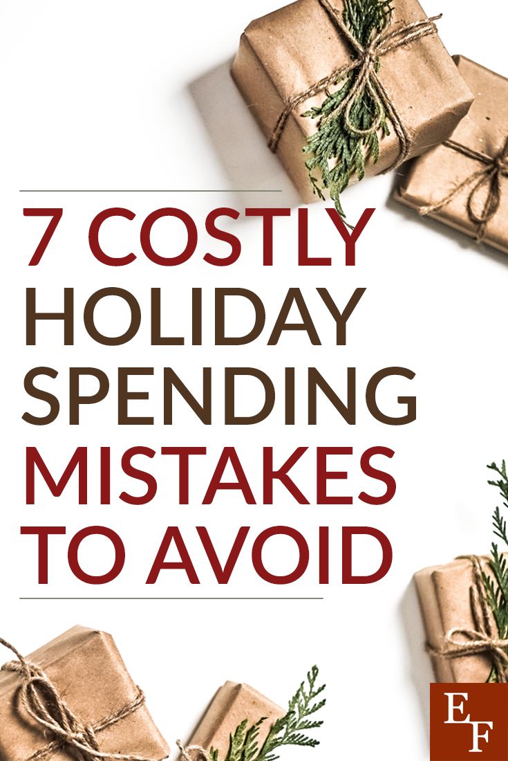 Don't go overboard with your Christmas spending this year. Here are 7 costly holiday spending mistakes and how to avoid them.