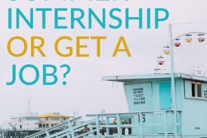 Summers during college become an opportunity to get ahead via getting a job, or landing an internship. But, which is right for you? These considerations can help you decide.
