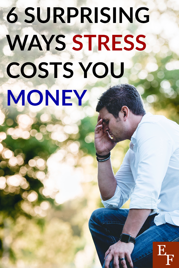 Your stress could end up costing you and your money more than you know. Here are six ways stress and the way you cope with it could be costing you money.