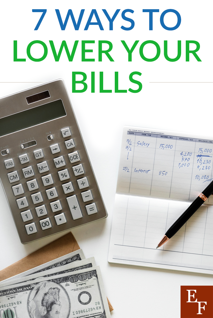 It's easier than you think to lower your bills. Here are seven super easy ways to lower your bills and make your budget more manageable.