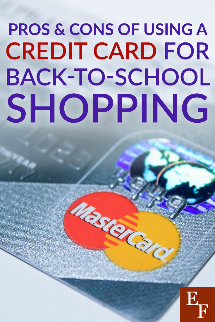Should you use a credit card for back to school shopping? Here are some pros and cons to consider before you swipe!