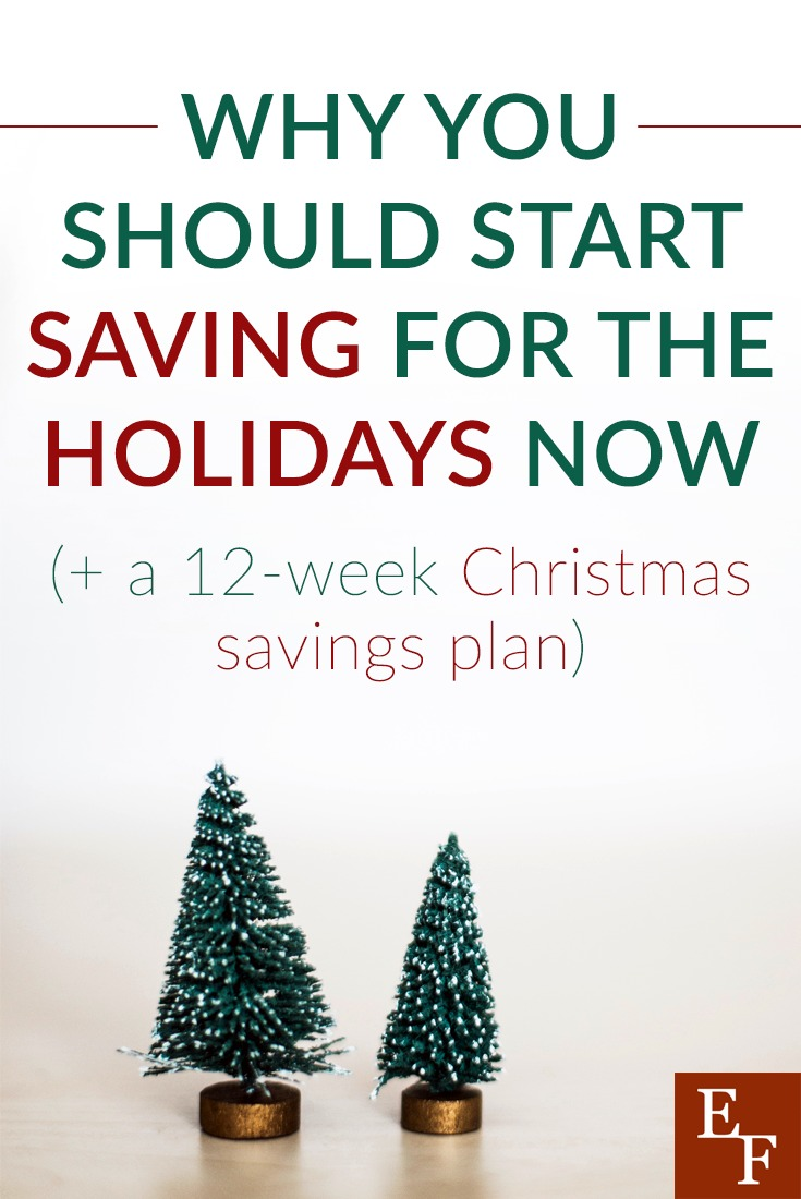 This Christmas savings plan is just a guideline. If you start saving early, you can stretch out the plan for 16 weeks, or whatever works best for you.