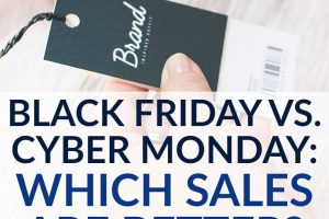 The biggest sales of the year are right around the corner! But which sale is really the best when you compare Black Friday vs Cyber Monday?
