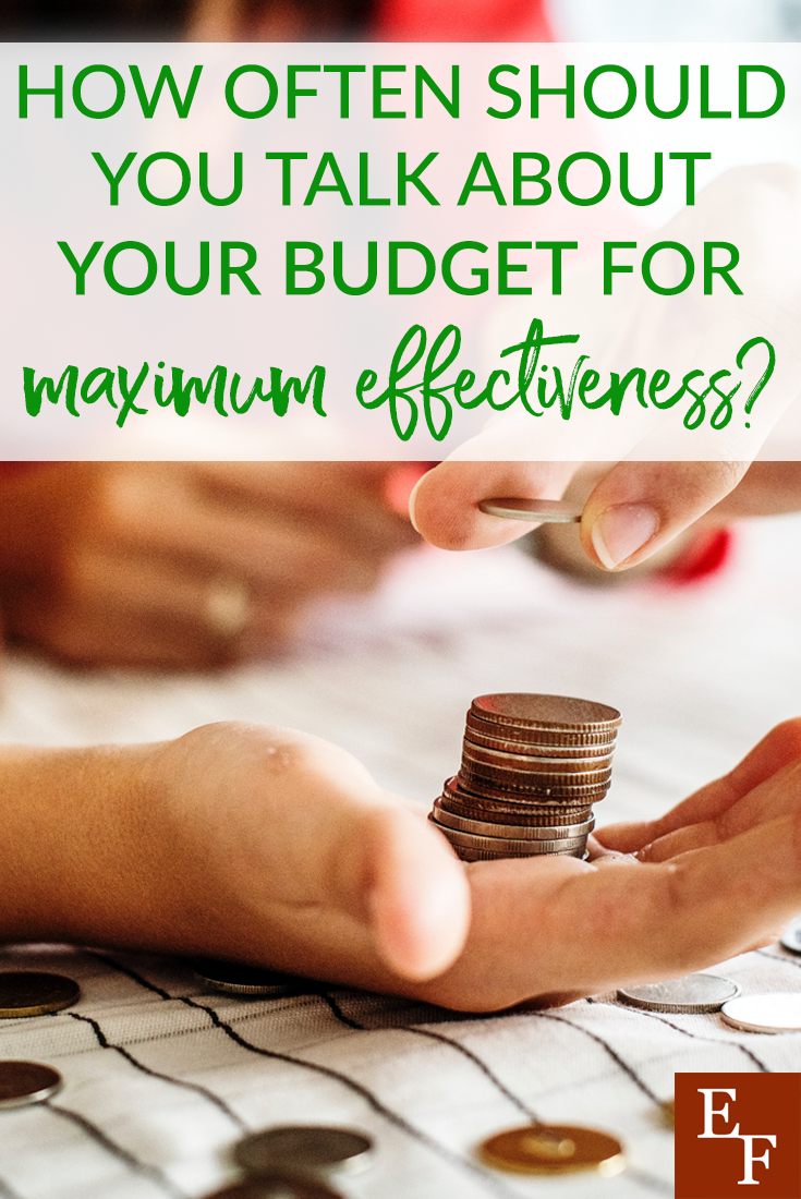 Talking with your partner about your budget is a very important aspect for any household. But just how often should you do it for maximum effectiveness?