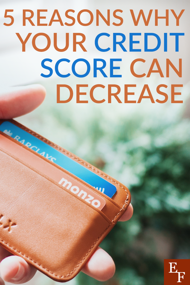 You can have a good credit score. In order to stay on top of your credit score you need to be aware of the reasons why your credit score can decrease.